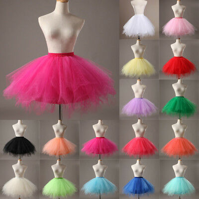 Hot Women Adult Lady Tutu Tulle Skirt Fancy Skirt Dress Up Party Dancing Dress