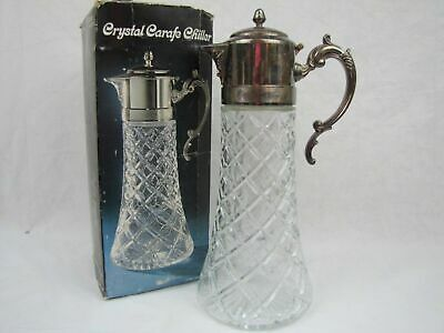 Godinger Italian Crystal Silver-plated Carafe/Pitcher with Chiller Ice Insert