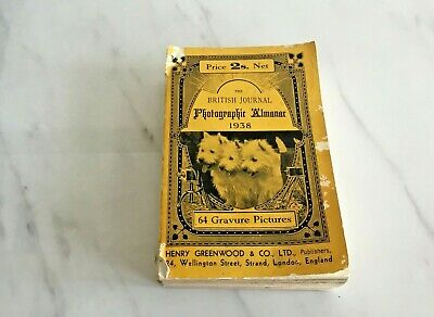 The British Journal 1938 Photographic Almanac  - 64 Gravure Pictures 748 pages