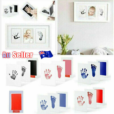 Baby Infant Safe Print Ink Pad Inkless Foot Hand Print Kit Keepsake Maker Memory
