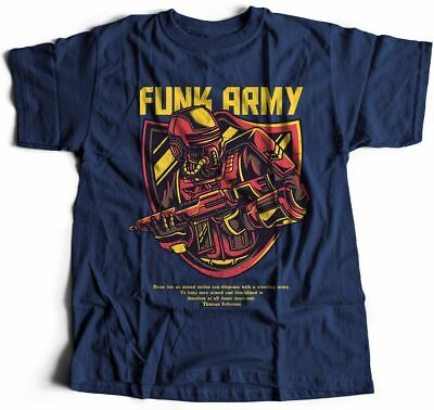 Funk Army T-Shirt Soldier Trooper Military Robot Special Forces Jefferson Q D784