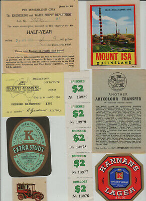 s986)    GREAT MIXED LOT OF COLLECTABLE EPHEMERA MOSTLY FROM AUSTRALIA