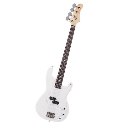 Exquisite Burning Fire Style Electric Bass Guitar White