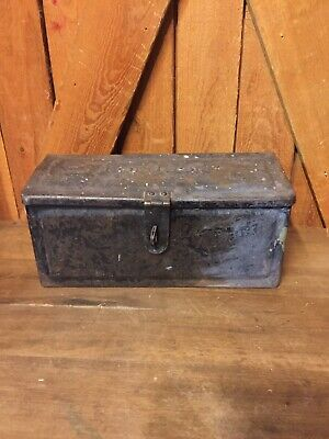 Very Old FORD FORDSON Embossed Steel Tractor Toolbox TOOL BOX Antique Vintage