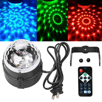 NEW RGB LED Disco Ball DJ Party Light Effect Strobe Remote Auto Sound Activated