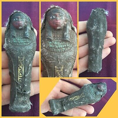 Very rare ancient Egyptian ushabti shabti with hieroglyphics c664-3