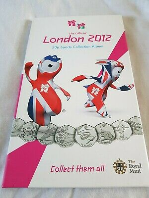Complete 50p london 2012 olympic coin set with completer medallion