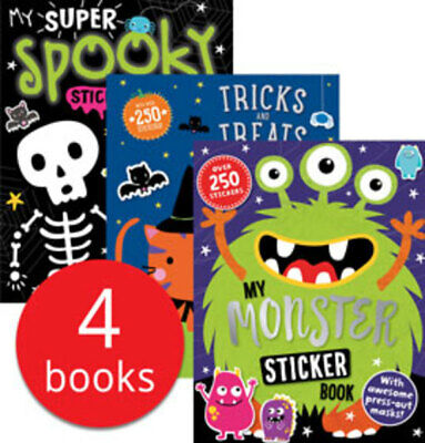Halloween Sticker and Activity Collection - 4 Books