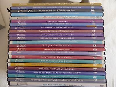 Bulk Lot of 28 Quilting DVDs - Lots of Titles