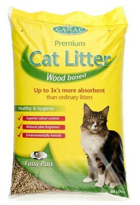 Canac Fussy Puss Wood Based Cat Litter 5ltr *DAMAGED PACKAGING* RETURNS.