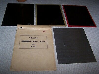 Three Glass Photographic Plates and Stainless Steel Glazing Plate