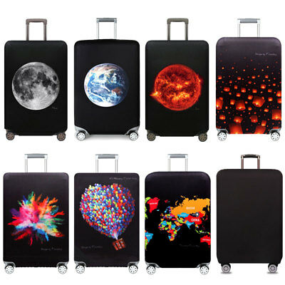 """18""""-32"""" Travel Suitcase Luggage Cover Protector Elastic Anti-scratch Dustproof B"""