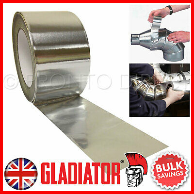 Aluminium Foil Tape Rolls Heat Insulation Duct Self Adhesive 48-72-96Mm X 45M