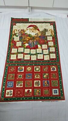 Christmas Advent Calendar Fabric Panel