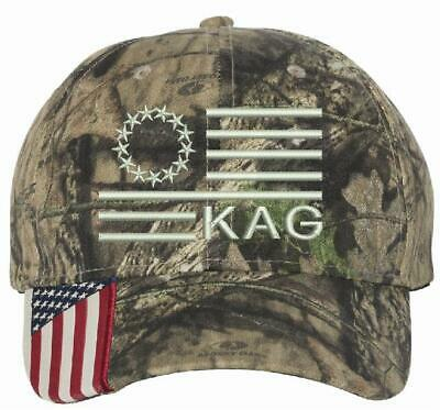 Donald Trump Hat KEEP AMERICA GREAT BETSY ROSS CWF305 Mossy Oak Country Hat