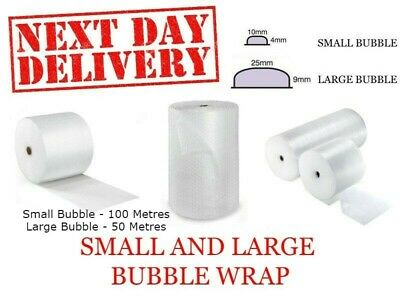 Bubble Wrap 50 100 meters Rolls Packing Supplies - Widths 500/600/750/1000mm
