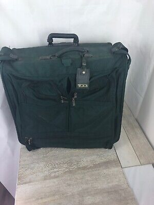 Vintage Tumi Green 2-Wheeled Folding Garment Bag Luggage Travel Large Bag