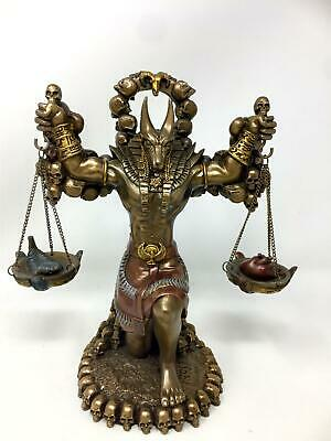 Egyptian Style God Anubis Statue Bronze Effect Afterlife Judgment Statue Figure