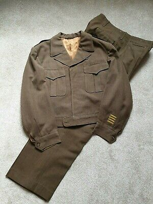 Huge Size Original 1945 dated US Army / USAAF Officers Ike Jacket and Trousers