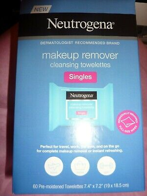 Neutrogena Makeup Remover Cleansing INDIVIDUALLY WRAPPEDTowelettes Singles 60 ct