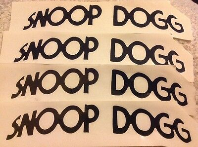 Snoop Dogg Band Logo 4 die cut stickers Free Shipping