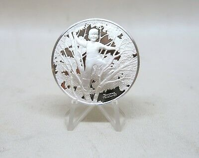 Birches Norman Rockwell 1 oz Sterling Silver Coin Round Robert Frost Round Medal