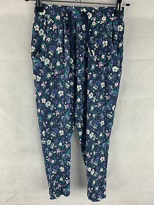 Next Girls Age 5 Years Blue Floral Print Harem Trousers