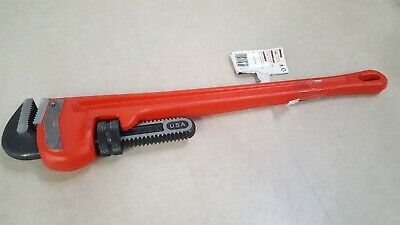 "RIDGID 31030 24"" Straight Pipe Wrench, Cast Iron, 3"" Jaw"