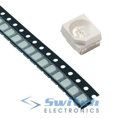 50 x Yellow 3528 SMD PLCC-2 LED Water Clear 480mcd
