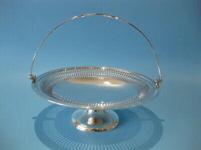 Lovely Large Antique Silver Plated Regency Style Pierced Round Fruit Bowl