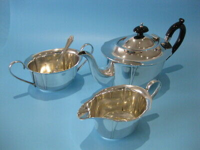 Very Nice Antique Silver Plated Art Nouveau in Style Three Piece Tea Service
