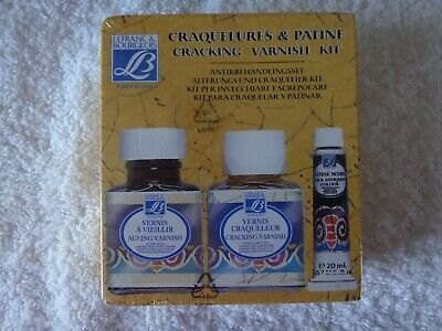 Le Franc & Bourgeois Craquelures & Patine Cracking Varnish Kit Boxed