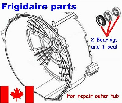 FRONT LOAD WASHER,2 TUB BEARINGS AND SEAL, Frigidaire ,Beaumark