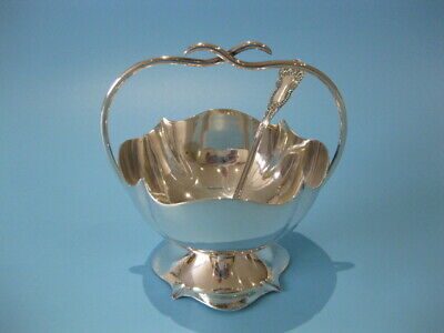 Beautiful Very Elegant Antique Art Nouveau Silver Plated Sugar Bowl With Spoon