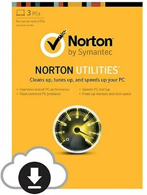 Norton Utilities, PC Tune-Up, v16.0, 2019 - 3 PC's Lifetime NEW DOWNLOAD VERSION