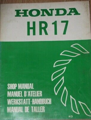Honda Hr17 Lawn Mower   Shop Manual  (Date Of Issue May 1980)