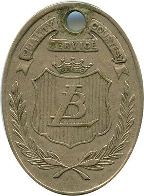 Lit Brothers LB Philadelphia, Pennsylvania PA Charge Coin Token Tag 58 349