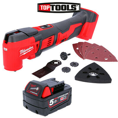 Milwaukee M18BMT-0 M18 18V Compact Multi Tool With 1 x 5Ah Battery
