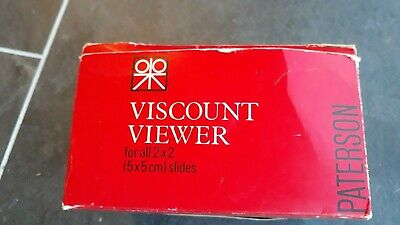 Paterson Vicount Viewer - Slide Viewer - Good Used Condition