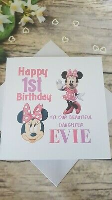 Personalised Hand made 6 inch square Teletubbies  Birthday card any age