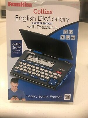 Collins English Dictionary Express Addition With Thesaurus Electronic