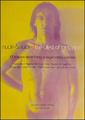 Iggy Pop poster - Nude and Rude