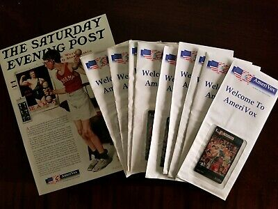 "VINTAGE NORMAN ROCKWELL ""THE SATURDAY EVENING POST"" AMERIVOX phone cards (9)"