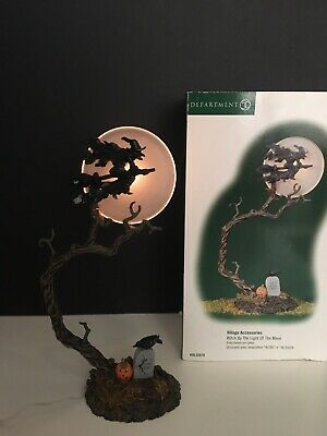 Dept 56 Halloween Witch By The Light Of The Moon Village Accessory Box