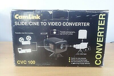 CAMLINK CVC 100 Slide/Cine to Video Converter New Boxed
