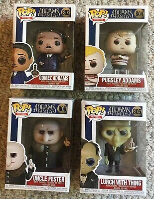 Funko Pop Addams Family Movies Gomez Lurch Pugsley Addams Uncle Fester NOT MINT