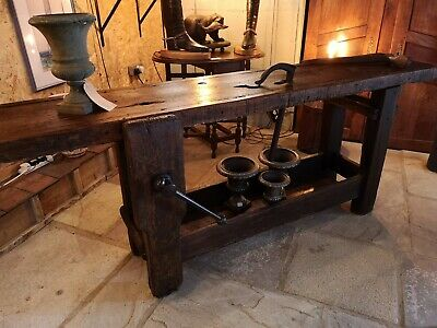 Antiques School science lab tables desks workbench cafe table 48x 24x 34-32 Tall