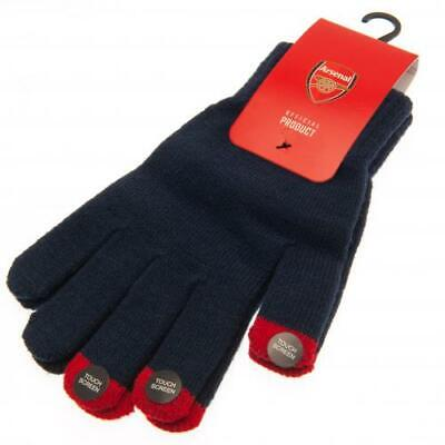 Arsenal Fc Club Crest Knitted Adult Hand Gloves Winter Season New Xmas Gift