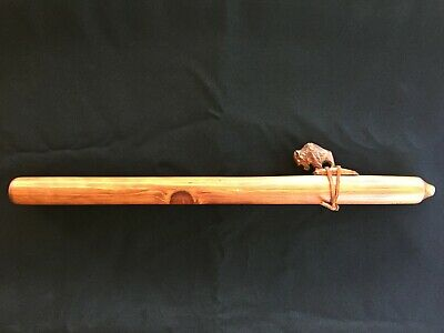 Jonah Thompson Native American Navajo Hand Carved Flute Signed