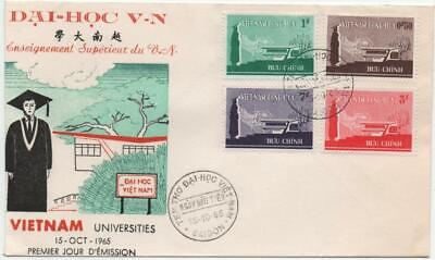 VIETNAM: 1965 Examples on Universities First Day Cover - Saigon Cancels (26582)